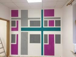 wandgestaltung mit farbe muster raufasertapete muster und ideen durch geschicktes abkleben umsetzen