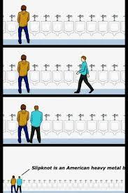 Slipknot Memes - do you like slipknot urinal etiquette know your meme