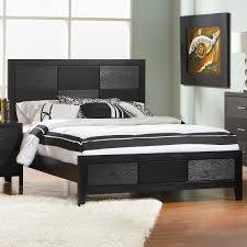 Headboard Woodworking Plans by Outstanding Rustic Queen Size Bed Frame With Tall Dark Walnut