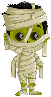 cute halloween png mummy clipart collection