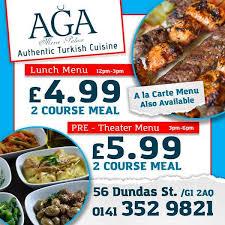 aga cuisine aga mezze palace glasgow united kingdom menu prices
