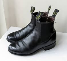 womens work boots australia vintage 80s r m williams aussie womens black leather chelsea