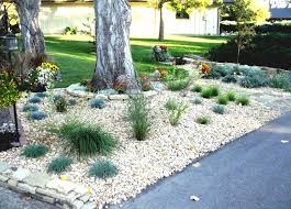 formal landscaping ideas with rocks for rock front yard corner