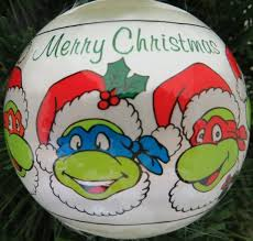 vintage mutant turtle ornament