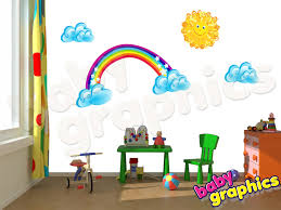wall decal rainbow color the walls of your house wall decal rainbow rainbow sun clouds large wall stickers removable babygraphics