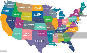 map usa colorful usa map vector getty images