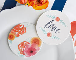 wedding coasters favors 20 lovely wedding coaster designs hongkiat