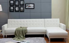 Sectional With Sofa Bed Incadozo 2pc Tufted Bi Cast Leather Sectional Sofa Bed In White