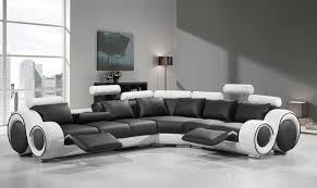 Ebay Sectional Sofa Vig Divani Casa 4087 Black White Bonded Leather Sectional Sofa
