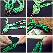 diy braided bracelet with beads images Bead necklace diy braided bead strand tutorial jpg
