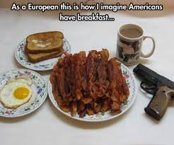 Funny Breakfast Memes - the american breakfast bacon know your meme