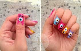 halloween monster nails mayang u0027s nails halloween part 2 the eye monsters manicure