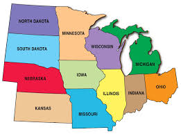 United States Map With State Names And Abbreviations by Midwest Region Map My Blog