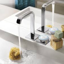 high tech bathroom faucets for digital and electronic upgrades view in gallery grohe allure f digital sink faucet jpg