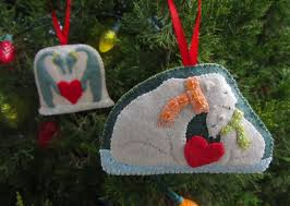 polar family felt ornament patterns penguins polar bears free