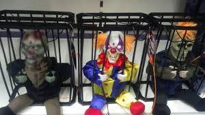 halloween animated prisoner in cage skeleton clown zombie new