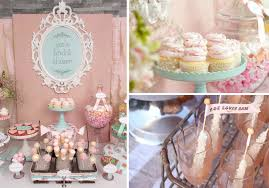 themed bridal shower decorations shabby chic vintage themed bridal shower planning via kara s party