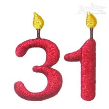 number birthday candles birthday candles number embroidery fonts