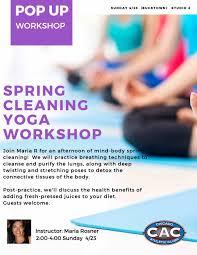 bac pop up spring cleaning yoga workshop