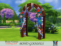 wedding arches in sims 3 the basic wedding arch transformed into a bohemian wedding