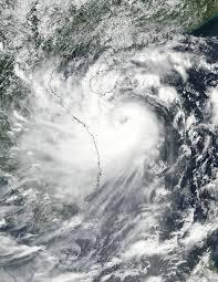 nasa identifies wind shear affecting tropical depression lee nasa suomi npp image of doksuri