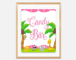 Baby Shower Candy Buffet Sign by Safari Candy Buffet Etsy