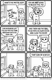 Meme Strip - what s the matter doggo black comedy comic strip comics