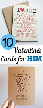 day cards for him valentines day cards for him