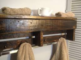 Wood Plank Shelves by Reclaimed Pallet Wood Shelf Entry Organizer Coat Rack Bathroom