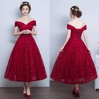 cheap tea length prom dresses bows free shipping tea length prom