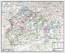 Map Paper Surrey County Wall Map Paper Laminated Or Mounted On Pin Board