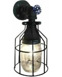 industrial pipe light fixture amazing shopping savings mason jar with cage wall sconce industrial