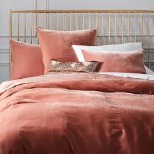 luxe velvet duvet cover shams orchid west elm