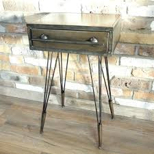 grey metal bedside table iron bedside table large size of cheap dressers grey metal