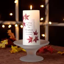 memorial candle autumn leaves memorial candle wedding memorial candle
