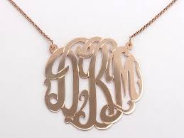 monogram necklace gold monogram initial necklace gold mixellaneous boutique gifts