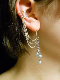 cuff earring ear cuff earring set blue by min ekko on deviantart