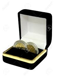 Wedding Ring Box by Wedding Ring Box With Coins Instead Of The Rings Isolated On