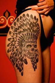25 beautiful thigh tattoo ideas for women