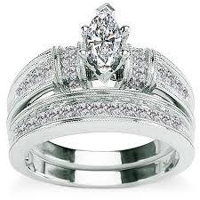 what are bridal set rings 5 8 carat diamond marquise cut 14kt white gold bridal set