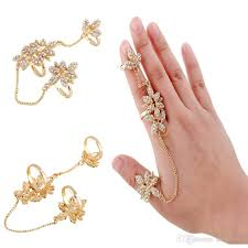 long rings jewelry images Women fashion jewelry multiple finger stack knuckle long full jpg
