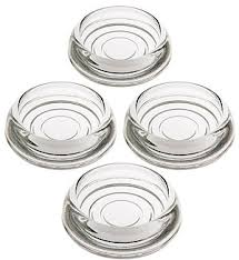 Set Of 4 Glass Furniture Caster Cups 3 Diameter House Of