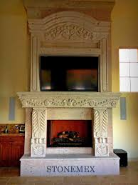 Cantera Stone Fireplaces by Fireplaces