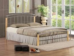 Beech Bed Frame Birlea Tetras Metal Bed Frame