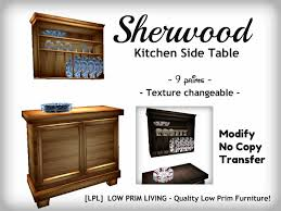 Second Life Marketplace Sherwood Kitchen Side Table Texture - Kitchen side tables
