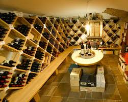interior home wine cellar designs with tasting site with hanging