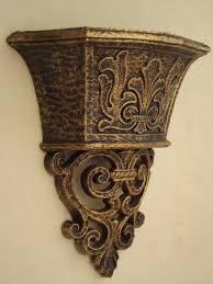 Vase Wall Sconce Endearing Vase Wall Sconce Homco Gold Rococo Plastic Wall