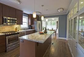 Galley Kitchen With Island Layout Galley Kitchen Decor Around The World