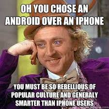 Iphone Users Be Like Meme - the funniest apple vs android memes the wheels and chips journal