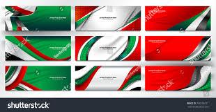 Colors Of Uae Flag National Flag United Arab Emirates Banner Stock Vector 740166721